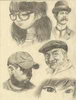 Life Studies Faces 1 by Air-City