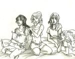 Demigod ladies sleepover by LilyScribbles