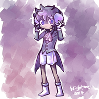 Espurr Gijinka by NightMargin