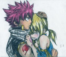 Natsu and Lucy by ClaireStryfe