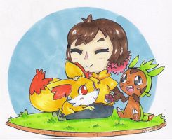 Starters Team Up by Kikulina