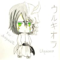 Ulquiorra Chibi Art Trade by DarkAngelPheonix