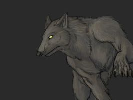 Digital Paint: Werewolf by Pandadrake