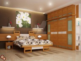 Bedroom Interiors -Khanna Residence by creativegenie