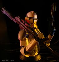 Clone Trooper Armed for battle by SurfTiki