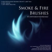 Smoke and Fire Brushes by differentxdreamz