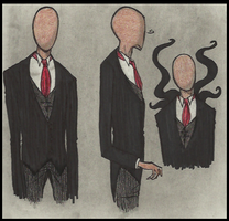 18th Cent slender doodles by Cageyshick05