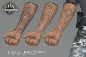 Firefly Tattoo 01 layout by Ubermonster