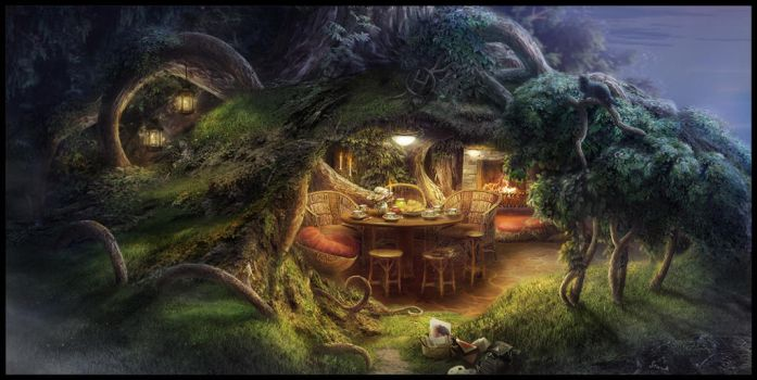 Hole to meet with friends by Tyami