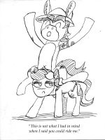 Mule riding a stripper by InfiniteBadness