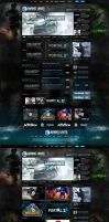 Gaming Unite Web Design by vasiligfx