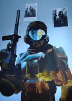 Halo ODST wallpainting by Revan-svk