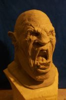 orc head WIP by UglyBabyEater