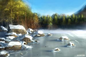 snow lake study by au-lait08