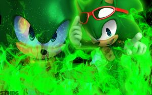 Scourge The Hedgehog - Wallpaper by SonicTheHedgehogBG