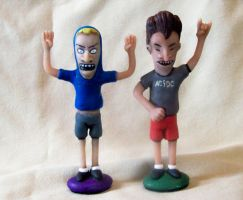 Beavis and Butthead by superclayartist