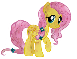 Flowery Fluttershy PNG by AccioVirginia