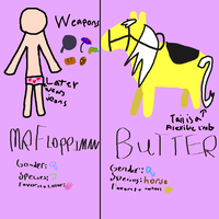 Mr Floppiman and Butter by pungender
