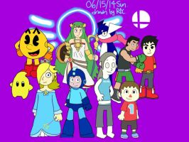 The New Characters of Super Smash Bros. by Fester1124