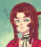 Serious Aeris by Shangrilfangirl
