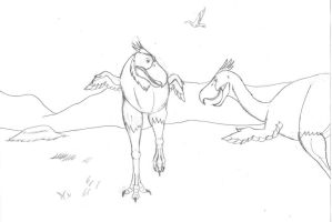 Cockfight, 2 mya by TroyandFriends