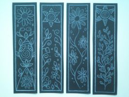 Flower Bookmarks by Fallen-from-stars