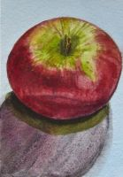 September Apple - tiny art for trees 11/12 by unSpookyLaughter