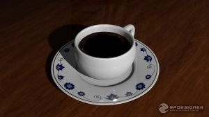 Blender 3D: Coffee Cup by rpdesignerfly
