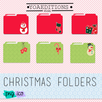 Christmas Folders by yoaeditions by yoaeditions