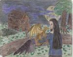 Old Drawing: Raven by Vixen525