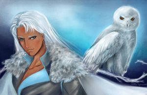Ice White Owl by blobble