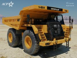 Caterpillar 777 Truck by Xanatos4
