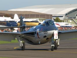 Hawker Sea Hawk Duxford 2 by davepphotographer