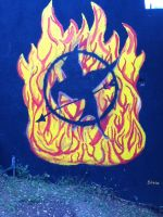 the hunger games mural by ninammm1