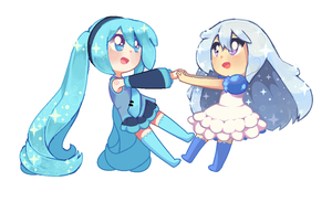 Fun and Socks with Miku and Watergirl! by 91vadpire