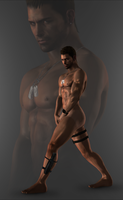 Chris Redfield Naked Render by DaemonCollection