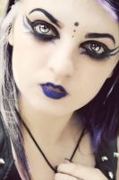 Deathrock/Gothic makeup by Gothchick1995