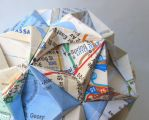 New York City Subway Map Origami Ornament by pandacub143