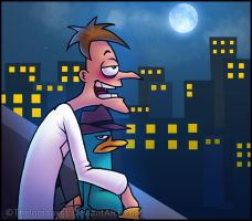 PnF - City Night by RatchetMario