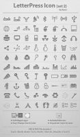LetterPress Icon_Set 2 by femographi