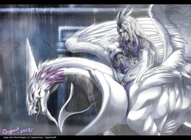 Kuja Leaving Burmecia by Grypwolf