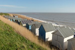 Beach Huts at Felixstowe - March 2014 by PhilsPictures