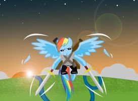Rainbow Dash badass by papaudopoulos69