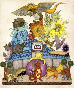 twitch plays pokemon red (color) by engraven