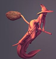 Witch Vray Render BackView by Rishi-Raj