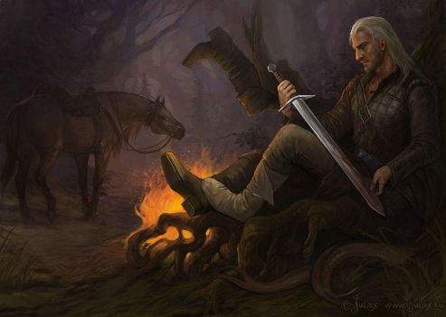 Geralt - After hunting by CG-Warrior