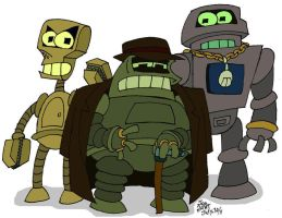 The Entire Robot Mafia by NewtMan