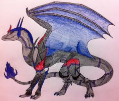 Dragonformer Greypipe by queenfirelily17
