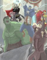 AVENGERS...ASSEMBLEEE!!! by ADrawingPuppet
