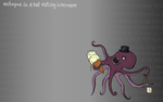 Octopus in a hat with icecream by evilmonkey0013